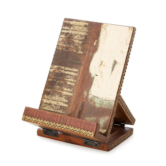 Salvaged Wood Cookbook and Tablet Stand