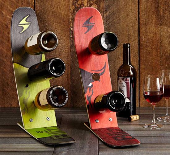 Snow Ski Wine Rack by Michael Bellino