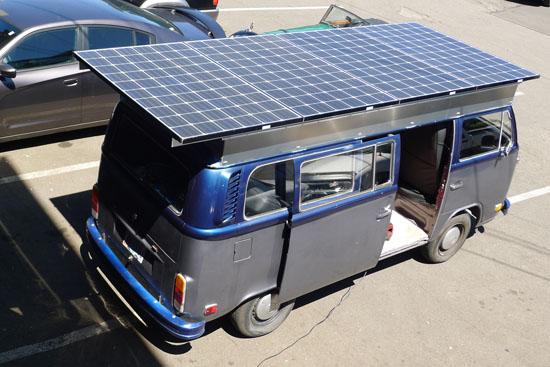 Solar Electric VW Bus : Solar-Powered Volkswagen Camper Van