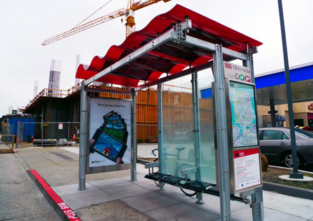Solar Powered Bus Shelter