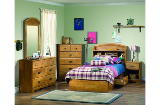 South Shore Furniture Prairie Collection Twin Mates Bed