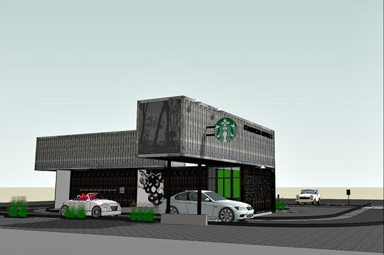 Starbucks Eco-friendly Reclamation Drive Thru