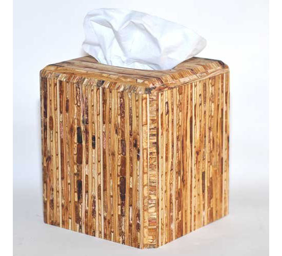Sustainable Kirei Sorghum Grass Tissue Box Cover