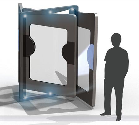 swiv electromagnetic door