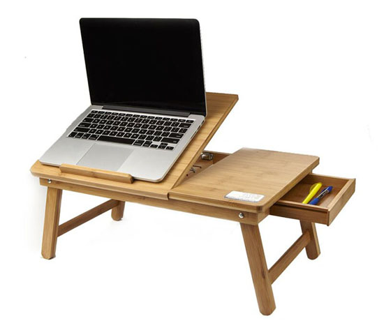 Symple Stuff Busch Eco-Friendly Bamboo Adjustable Laptop Tray