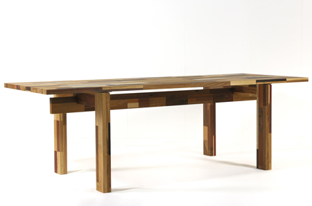 Table Made Out Of Waste Wood