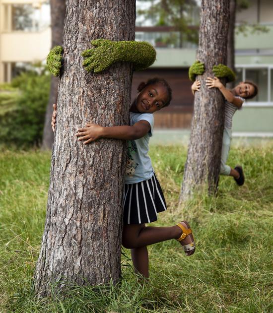 Tree Hug Art Installation by Monsieur Plant