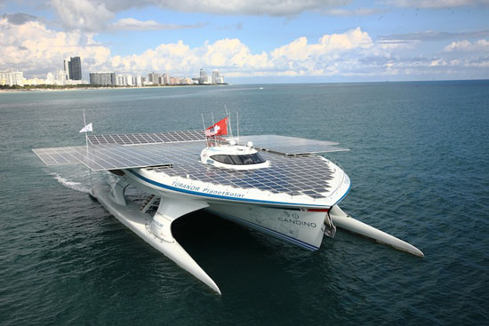 Largest Solar Powered Boat