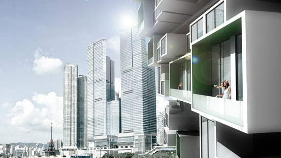 Unit Fusion High-rise Residential Building Concept