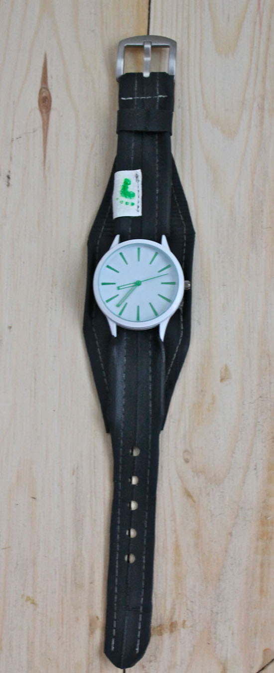 Upcycled Bike Inner Tube Watch