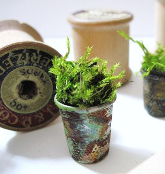 Vintage Thimble Planters