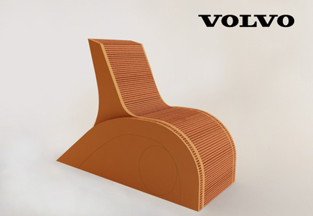 Cardboard Chair Inspired by Volvo C30
