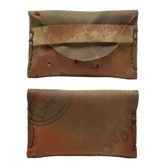 Wallet from Old Baseball Gloves