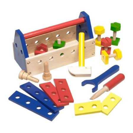 wooden tool kit toy