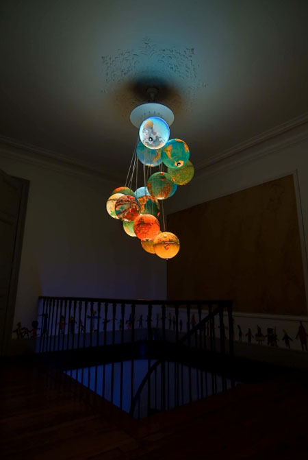World Inside Out Chandelier